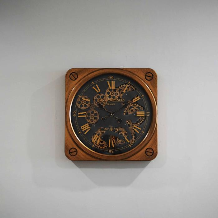 Jam Dinding Clock 50 cm x 50 cm - Gold1