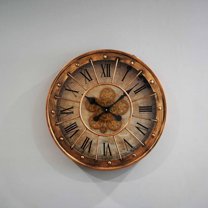 Jam Dinding Clock Diameter 60 cm - Gold