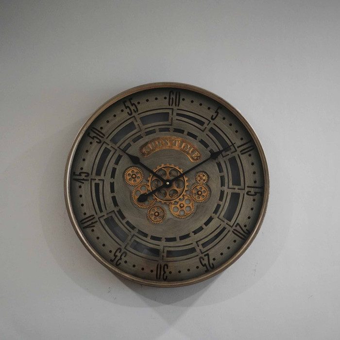 Jam Dinding Clock Diameter 60 cm - Silver1
