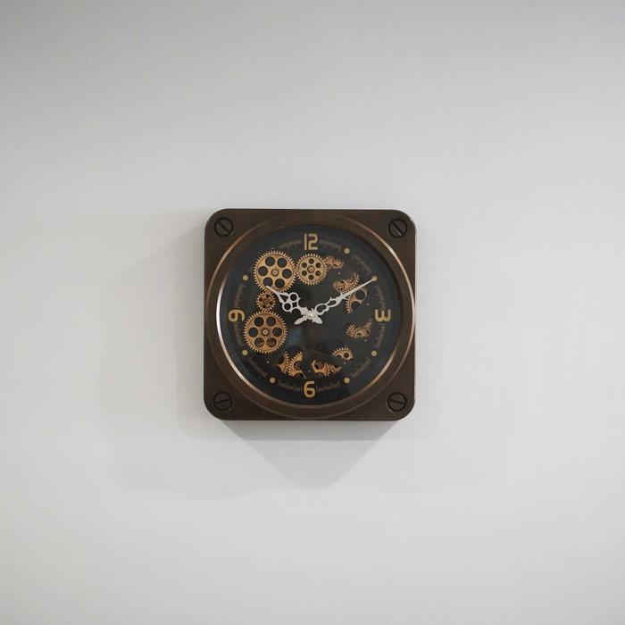 Jam Dinding Clock Panjang 37 cm x Lebar 37 cm - Cokelat